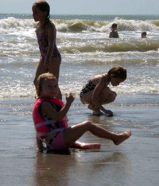 Little kids beach