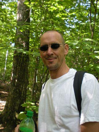 Chuck hiking