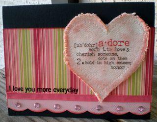 Adore you more card