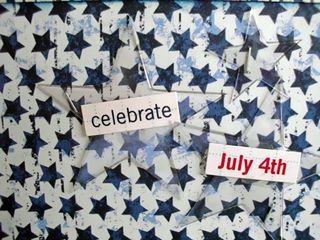 Close up of celebrate fourth