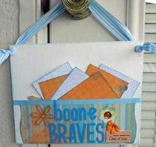 Boone braves hanging frame